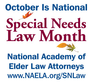 October is Special Needs Law Month