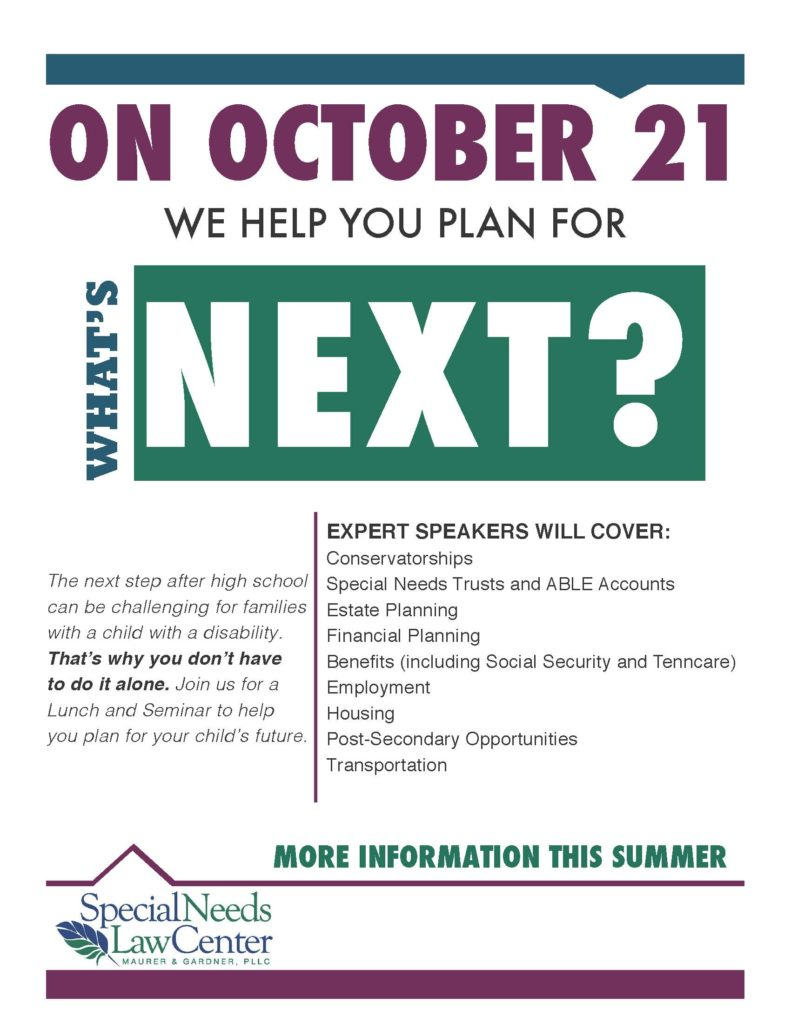 Save the Date Flyer for Oct. 21 What's Next Seminar